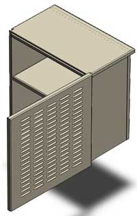 Chinese contract manufacturing of sheet metal cabinets and sheet metal enclosures