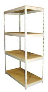cutom manufacturing of my different designs of rivet rack boltless shelving